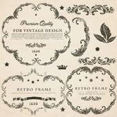 Vintage ontwerpset elementen — Stockvector