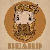 Beard icon — Stock Vector