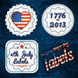 USA independence day labels — Stock Vector
