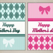 Happy mother's and father's day cards — Imagen vectorial