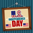 Usa independence day — Imagen vectorial