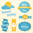 Summer holiday signs set — Stok Vektör #26234913
