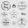 Vintage sale signs set — Stock Vector