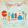 Royalty-Free Stock Imagen vectorial: Recipe card
