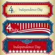 USA independence day signs — Stock Vector