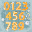 Stock Vector: Sewing style numbers
