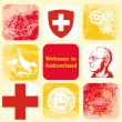Stock Vector: Switzerland icons