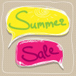 Summer sale Speech Balloons — Stockvektor