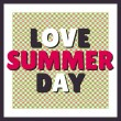 Love summer day background — Stock Vector