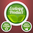 Stock Vector: Ecology product labels