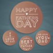 Happy father's day labels — Stock Vector #26235663