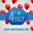 Independence day background — Vector de stock #26235669