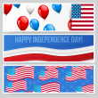 Stock Vector: Independence day background