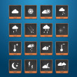 Weather web icons set — Stock Vector