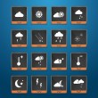 Weather web icons set — Imagen vectorial