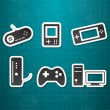 Stock Vector: Video game icons set