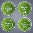 Healthy food labels — Stockvektor