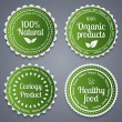 Healthy food labels — Stock Vector