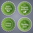 Healthy food labels — Stock Vector