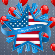 Independence day background — Vector de stock #26235831