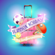 Summer holiday background — Stock Vector