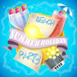 Summer holiday background — Stock Vector #26235987