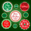 图库矢量图片: Merry christmas vintage labels