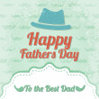 Happy father's day label — Stock Vector