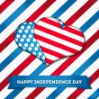 Independence day background — Vector de stock #26236143
