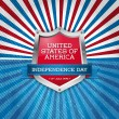 USA independence day symbols — Imagen vectorial