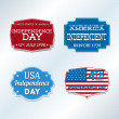 Stock Vector: USA independence day symbols