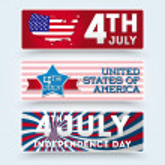 美国独立日的符号 — 图库矢量图片