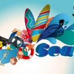 Sea background — Stock Vector