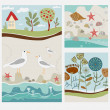 Summer vintage background — Stock Vector