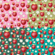 Strawberry background — Imagen vectorial