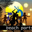 Beach party background — Stock Vector