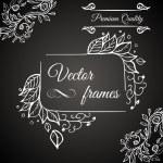 Premium quality. Retro vector frame — Stock Vector #26236581