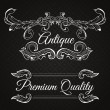 Premium quality. Retro vector frame — Stock Vector