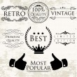 Set of vintage vector labels for premium quality items — Stockvektor