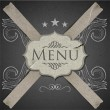 Grunge Vector template for menu restaurant — Stock Vector
