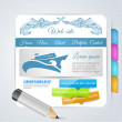 Set of vector elements for web page design — Stock Vector