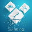 Swimming vector icons — Imagen vectorial
