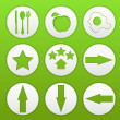 Buttons on a green background — Image vectorielle