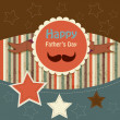 Happy fathers day card vintage retro — Stock Vector #26237221