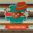 Happy fathers day card vintage retro — Stock Vector #26237233