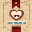 Happy fathers day card vintage retro — Stock Vector