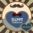 Happy fathers day card vintage retro — Vettoriali Stock