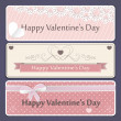 Banner Valentine's Day — Stockvectorbeeld