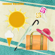 Royalty-Free Stock Vector Image: Background summer vacation
