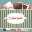 Vintage background premium quality — Stock Vector